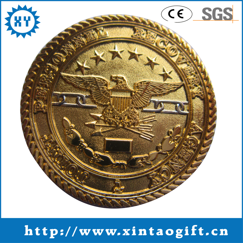 Factory sales gold metal cheap custom coin for sale antique