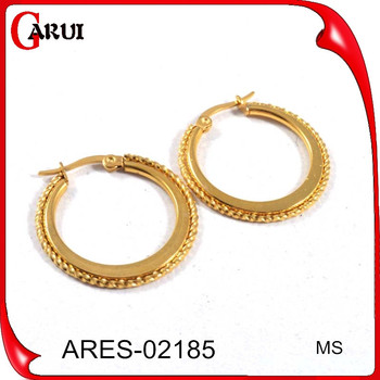 Earring Factory China Dubai Gold Jewelry Earring Small Gold Hoop
