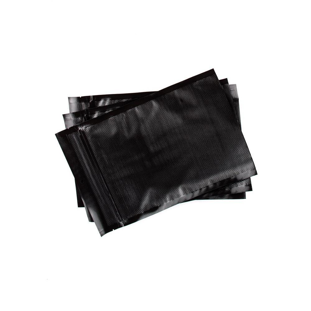 BPA Free Food Grade All Black Heat Seal Vacuum Sealer Bags