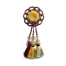 2017 Fashion custom colorful flower pom small polyester tassel for bag decoration