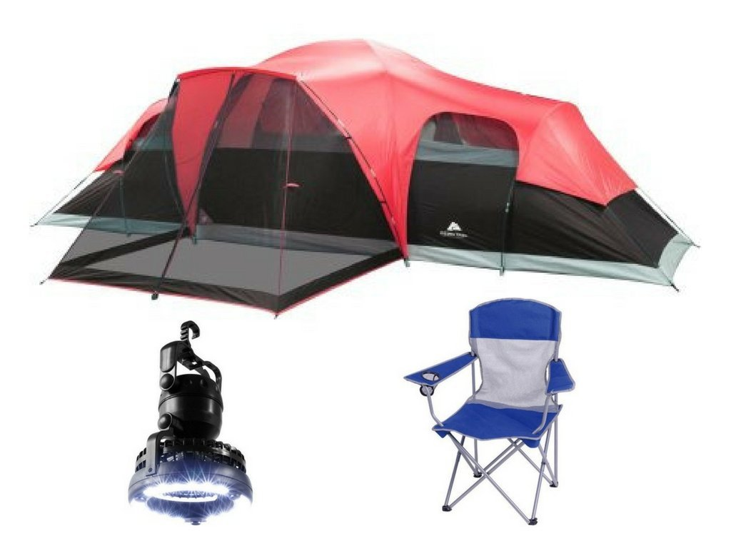 Get Quotations Ozark Trail Family Tent With 2 In 1 Led Camping Ceiling Fan And