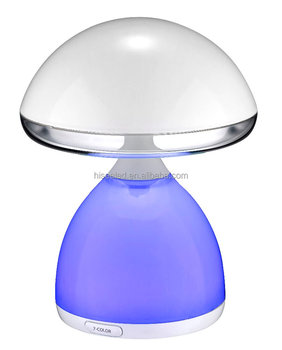Rechargeable patting switch decorative LED atmosphere mushroom lamp