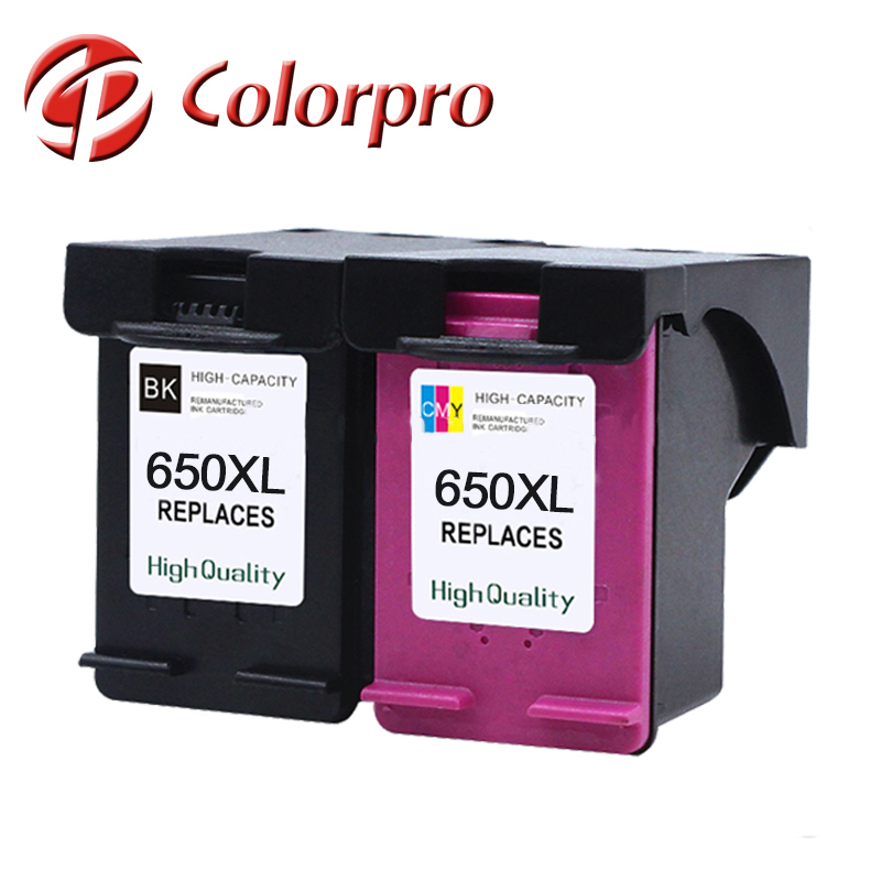 Ink cartridge for HP650xl for HP Deskjet 1015 2510 2545 2645 3510 3515 4645 for HP 650XL ink cartridge with show ink level chip
