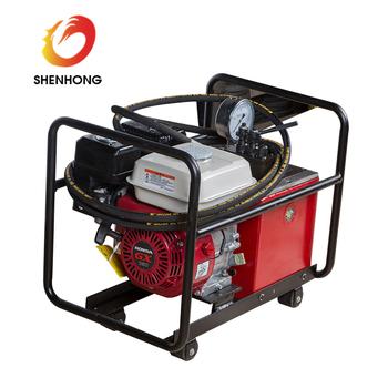 80mpa Honda Petrol Engine High Pressure Hydraulic Pump Station