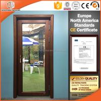 Top Quality Wooden Glass Interior Door Oak Wood With Aluminum Cladding Hinged Timber Patio Door