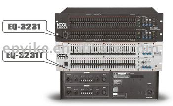 EQ-3231 - Professional Sound System Equalizer / Stereo 31 Band Graphic  Equalizer with Feedback