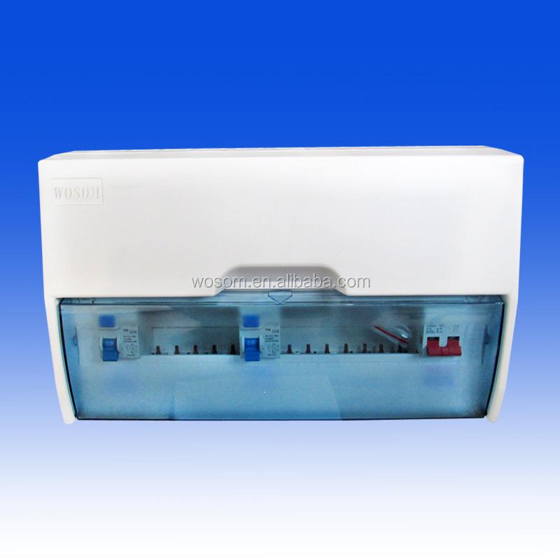 12way Split Load Consumer Unit Rcd 63a Fuse Board Box New - Buy Plastic on