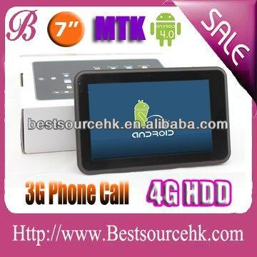 Latest tablet computers 2012 7 inch tablet with 2G/3G phone call