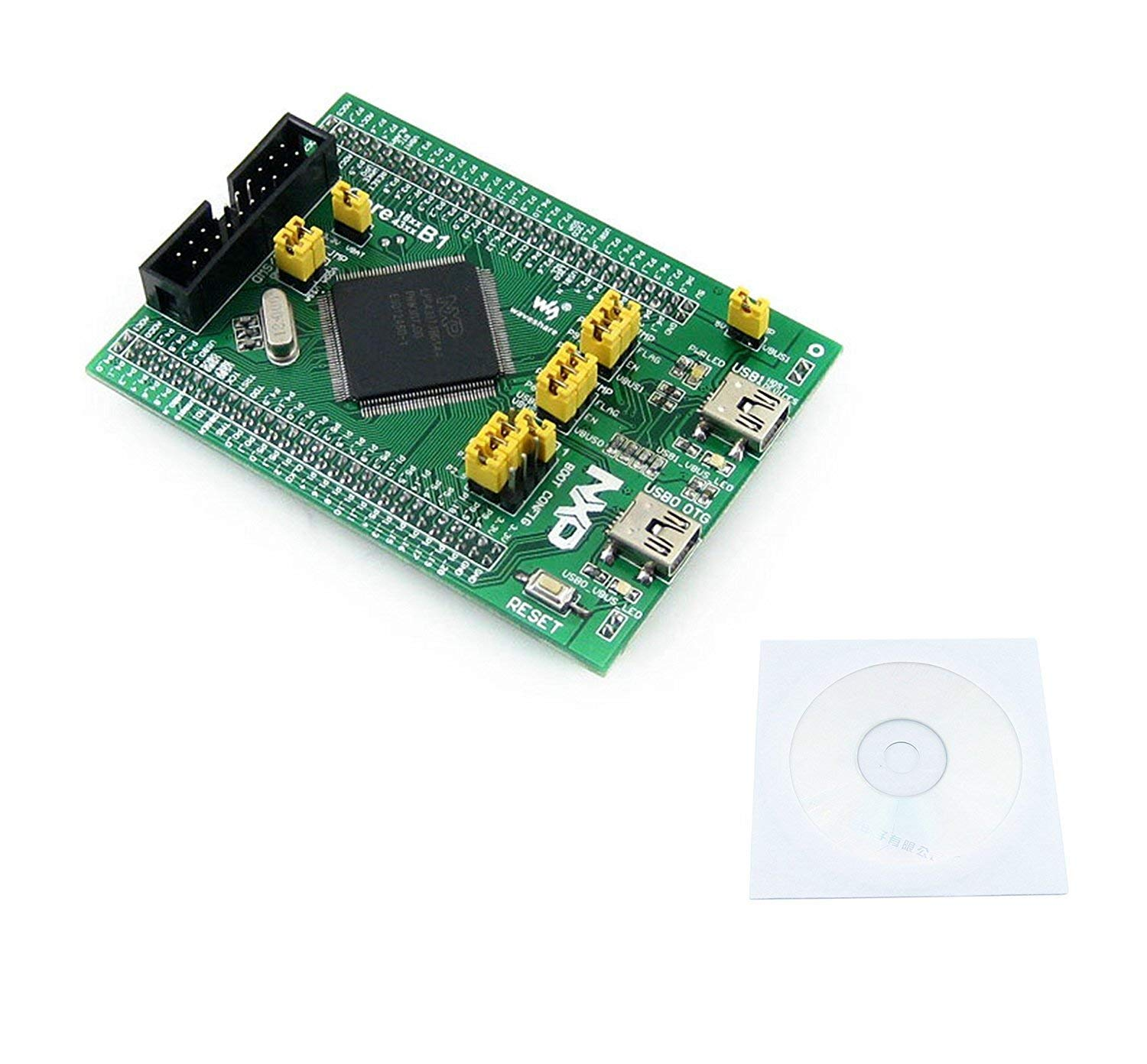CQRobot LPC Core Board Core4337, Integrated MCU Basic Circuit, Such as Clock Circuit, USB Power Management, USB Interface, Etc. All I/O Ports are Accessible on Pin Headers.