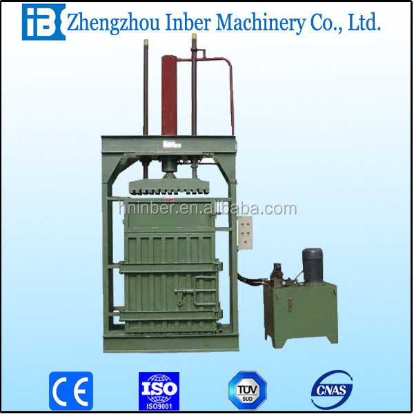 Vertical hydraulic balers for hard rubber/plastic/pet bottle/hay/fiber items