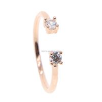 Real 100% 925 sterling silver 2018 fashion AAA cz paved open rings with silver band ring for women wedding finger ring