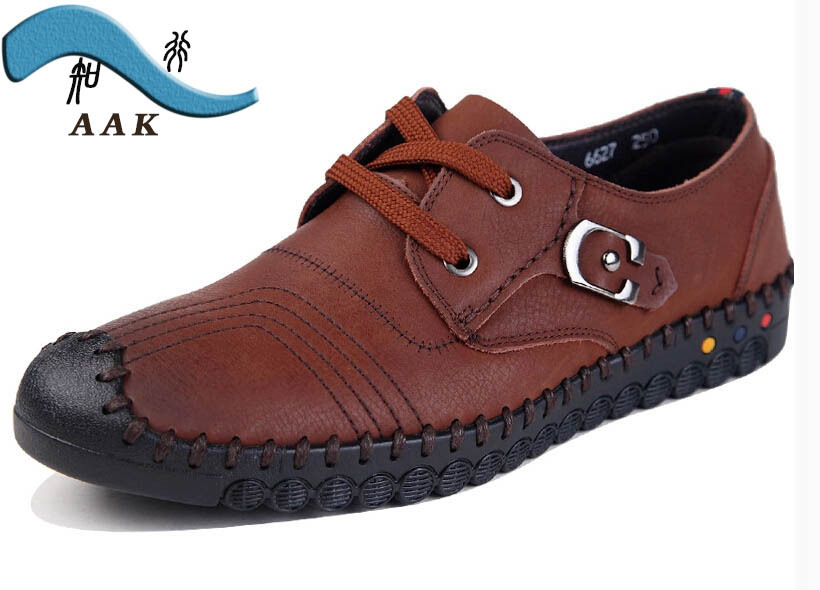 2015 AAK Brand Designer men shoes Fashion Casual Genuine Leather Moccasins driving shoes men's business dress shoes BQ 32