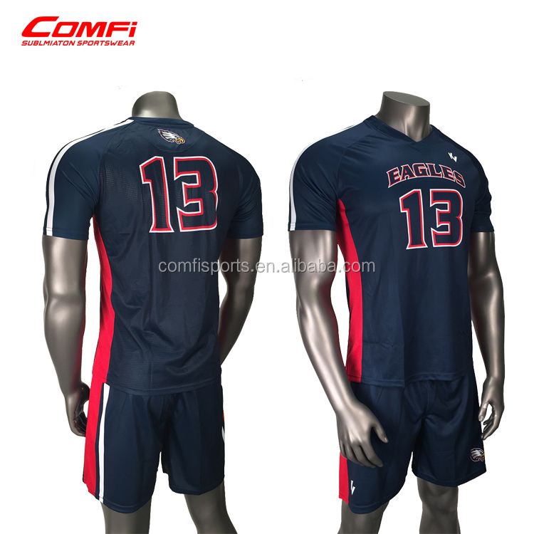 Customized volleyball uniform designs for men