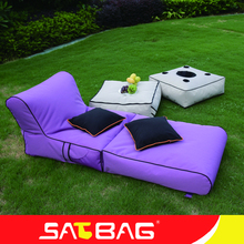 Waterproof outdoor long relaxing bean bag