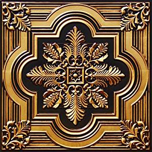 """Wall Panel Ceiling Tile Flat 24""""x 24"""" #206 Antique Gold Cheap Plastic Fire Rated, Can Be Glued on,nail On,staple On,tape on Any Flat Surface!drop in Ceiling Tile,cheap Suspended Ceiling Tiles."""