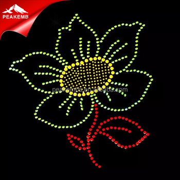 Hot Fix Korean Iron Stone Designer Rhinestone Flower Motif - Buy ... 4d9b53cf6c84