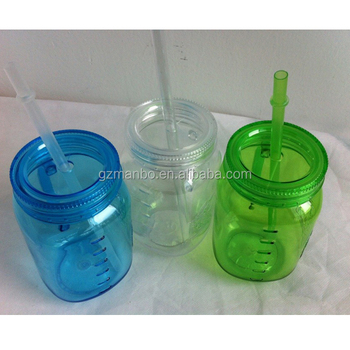 9788b5297574 Factory Hot Sale 16 Oz Plastic Custom Mason Jars Wholesale With Straw And  Handle - Buy Plastic Mason Jars Wholesale,Mason Jars Wholesale,Custom Mason  ...