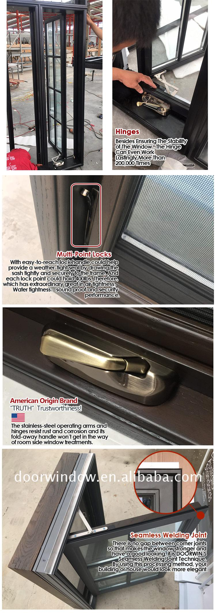 Factory direct price american window grill design crank casement