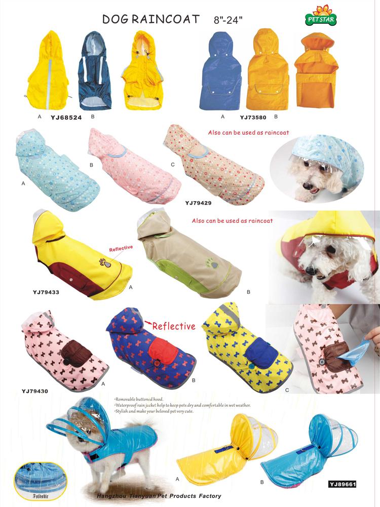 Tianyuan Pet Dog Rain Coat Waterproof