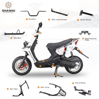 Wholesale custom electric motor scooter body frame performance accessories parts with title