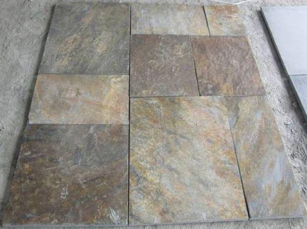 Arrugginito pavimento in ardesia piastrelle buy ardesia