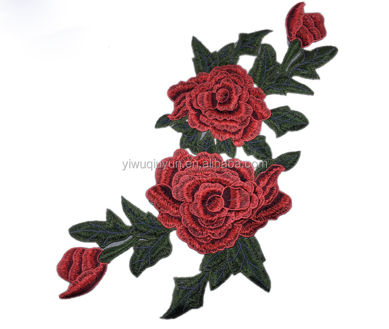 40*21cm Cheap Embroidery Patch Peony Flower