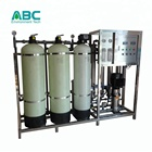 1000L/H industrial reverse osmosis fiberglass water filter tanks outdoor