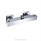 brass thermostatic wall mounted shower mixer faucet