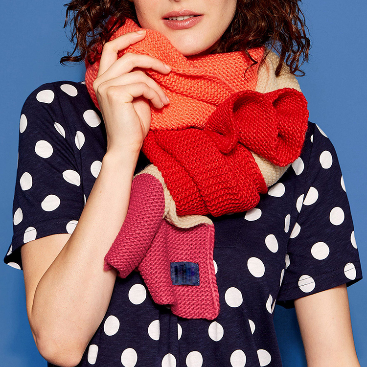 Brand custom new arrivals winter travel scarf Oversize acrylic Knitted wool blend cashmere scarf for women