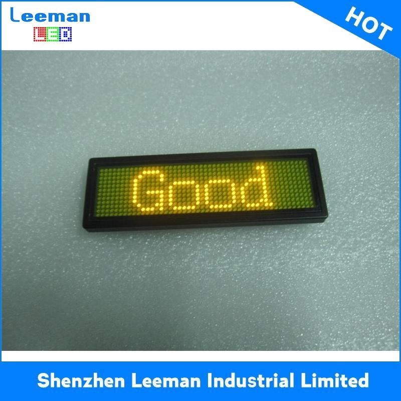 name tag board program moving message led digital display
