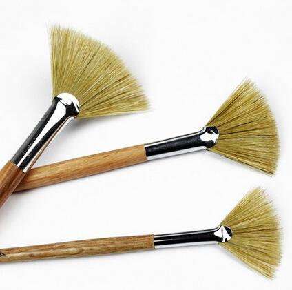 3pcs lot Watercolor oil Art Paint Brush pig Hair soft painting brush acrylic painting brush for