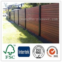 Easy install top quality Europe Popular garden fence wood, fence sliding doors, europe wooden door