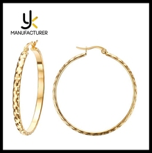 Hot Styles Hot Jewelry Customized Size Stainless Steel Hoop Earrings Anti Allergy