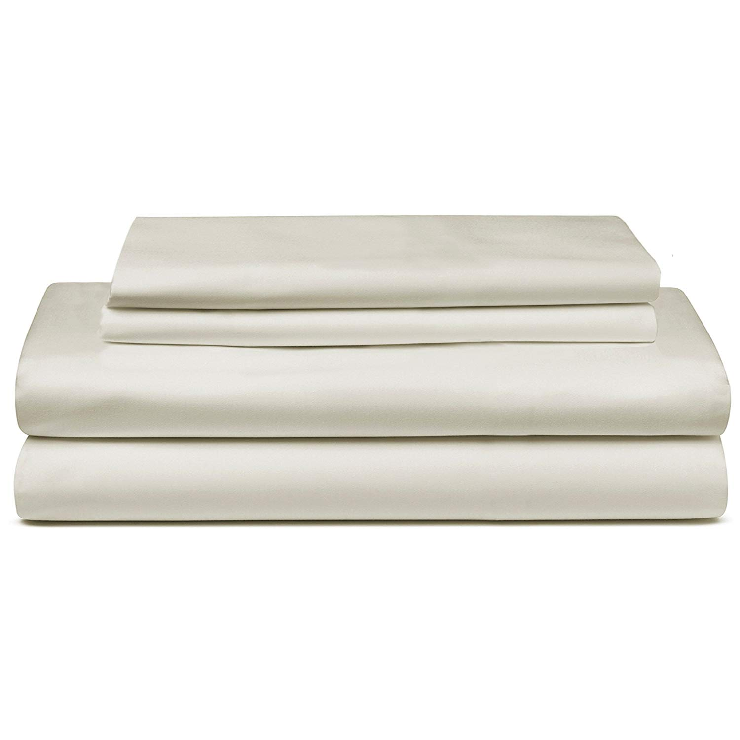 """Pinnacle Homes 300 Thread Count 100% Long Staple Soft Cotton Sheet Set, 4 Piece Set,Queen Sheets, Soft Smooth Sateen Weave, Hotel Quality Bestselling Sheet, 16"""" Deep Pocket, Luxury Bedding, Taupe"""