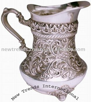 Brass Jug silver plated