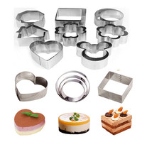 304 Stainless Steel Perforated Tart Ring For Cake