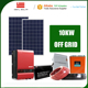 off grid solar power system 10kw 100kw 500kw complete machine for home with tracking tracker racking battery inverter collector
