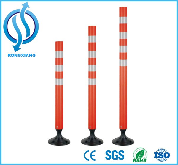 Spring Post/ Orange Color Plastic Flexible Traffic Warning Delineator Post (RX-JSZ-14)