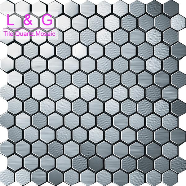 Mm0010s honingraat zilver roestvrij staal mozaïek tegels ...
