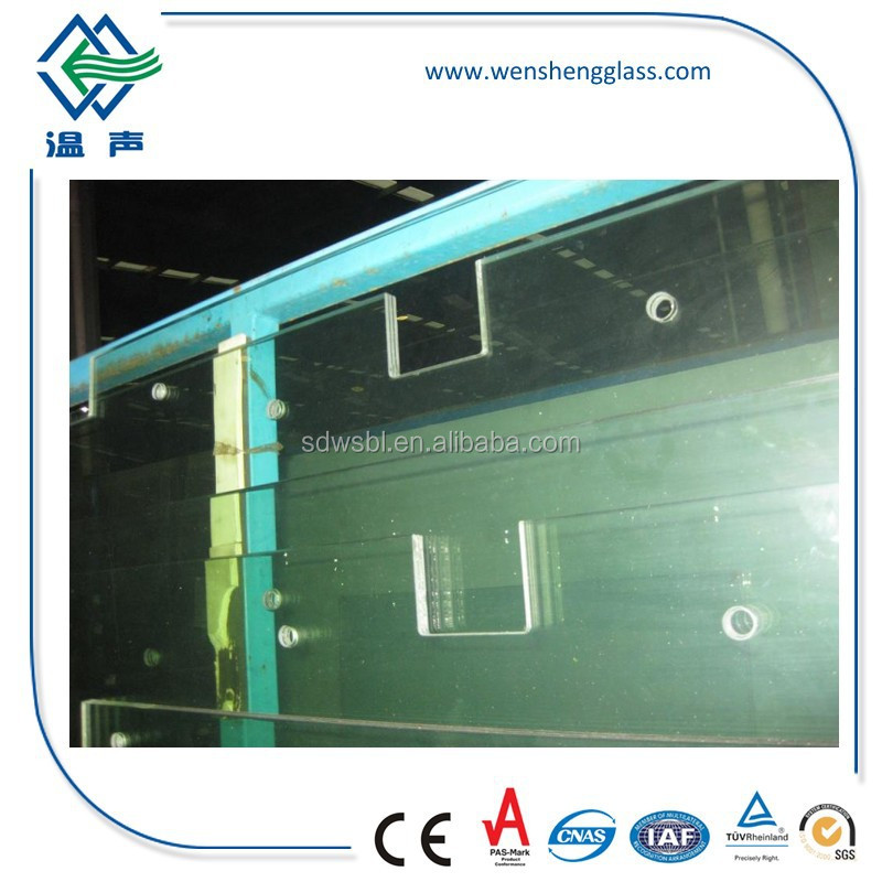 Tempered Laminated Glass with Holes for Doors and Windows