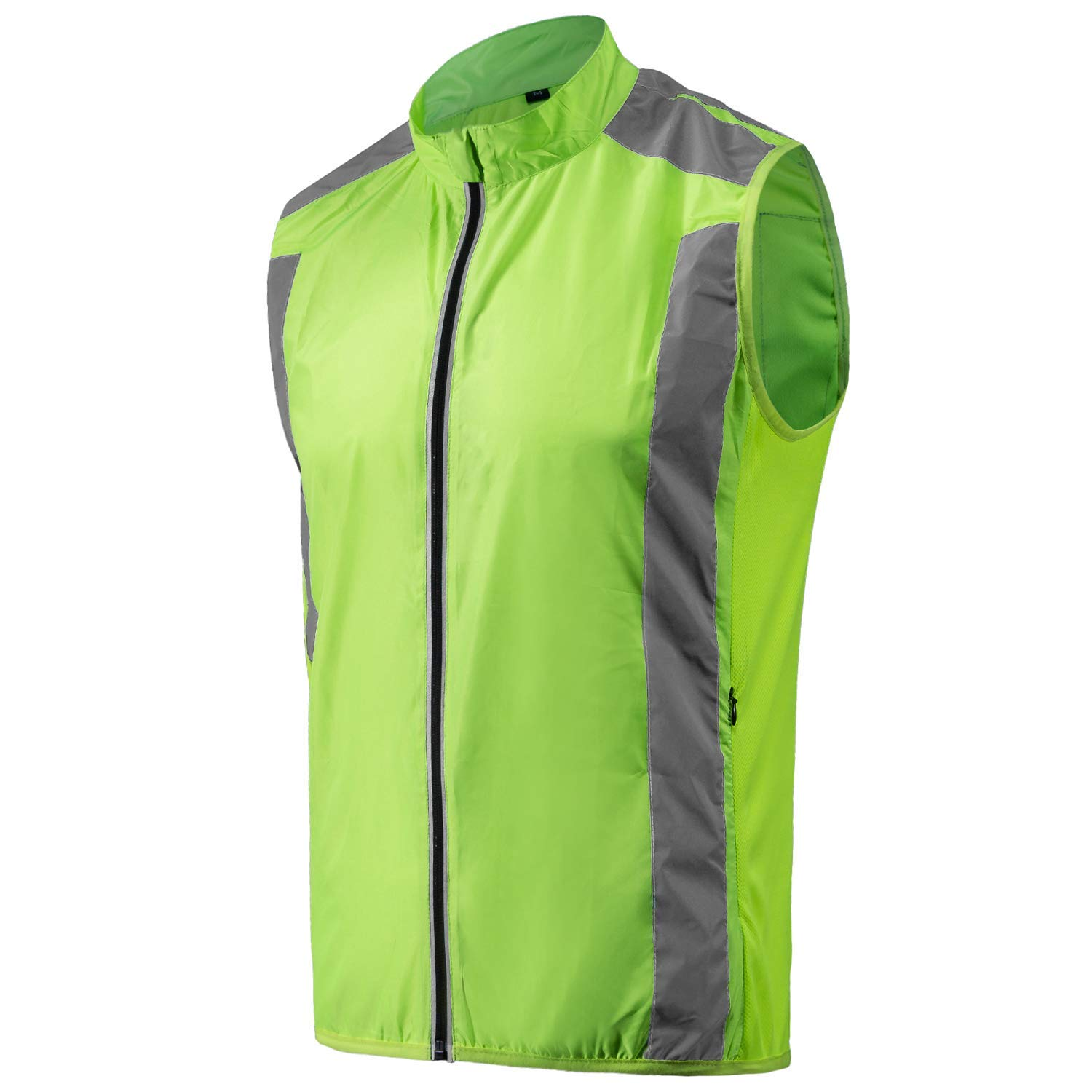 Get Quotations · voofly Men s Cycling Vest Reflective Hi-Viz Safety  Sleeveless Running Windproof Bicycle Jacket 10b9ff8c1