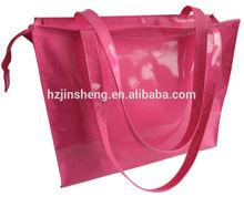 cheap promotional waterproof red jelly tote beach bag