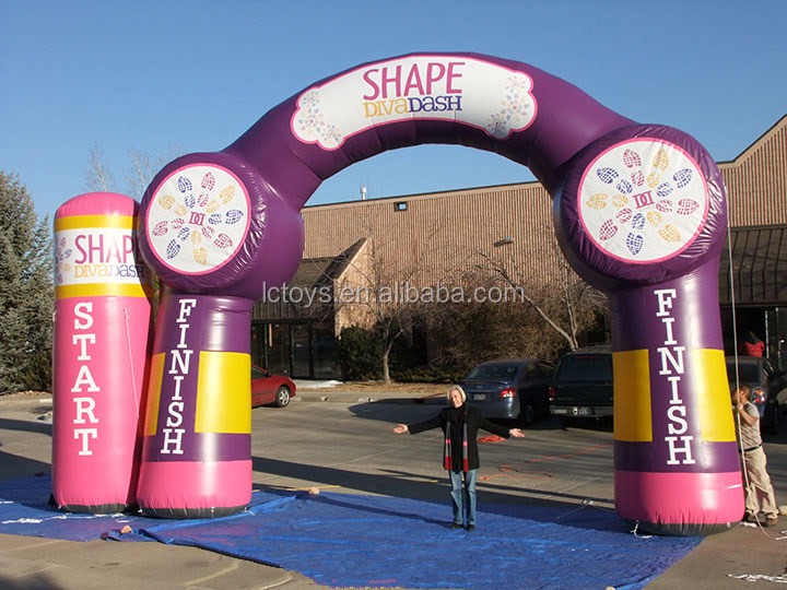 Giant diva dash inflatable arch