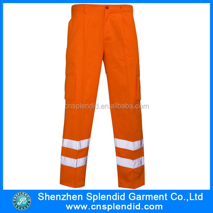 Custom High Visibility Trousers Cargo Reflective Work Safety Pants