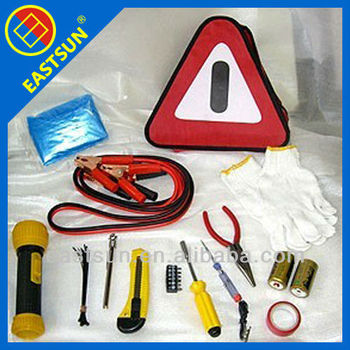 29pcs Auto Roadside Emergency Safety Kit With Flash Light