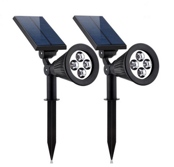 Colorful 7 led solar garden pin spot light outdoor