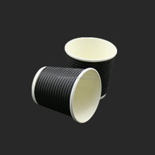4oz Ripple wall paper cup/Hot drink paper coffee cup