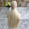 hot selling color 613 40 inch extensions full lace wigs natural blonde curly human hair extensions
