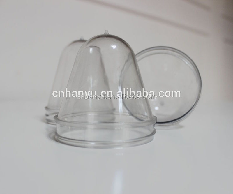 wide pet preform for blow molding pet plastic