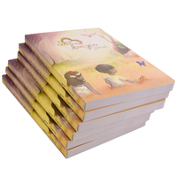 High quality book printing services softcover coloring writing book printing